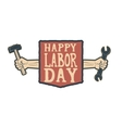 Happy labor day card template vector image
