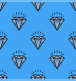 traditional brilliant jewellery seamless pattern vector image