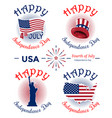 us independence day banner set vector image