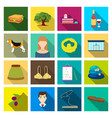 ecology hobbies textilesand other web icon in vector image