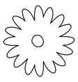 sketch contour of hand drawing daisy flower with vector image