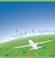 mannheim skyline flight destination vector image