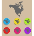 North America Map - icon isolated vector image