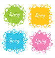 spring frames vector image vector image
