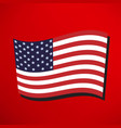 america flag icon vector image