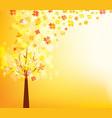 an autumn design autumn tree background vector image