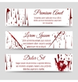 Bloody handprint and scratch banners vector image
