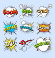 cartoon speech bubbles explode bang sound with vector image