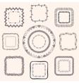 Handsketched Doodle Frames Design Elements vector image
