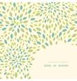 Leaf texture corner decor pattern background vector image