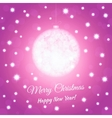 New Year postcard with christmas ball Pink colored vector image