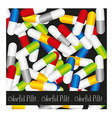 pills background vector image