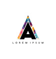 letter initial logotype logo abstract colorful vector image