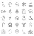 stuff icons set outline style vector image