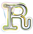 Organic Font letter r vector image vector image