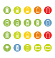 Battery and Accumulator Icons vector image vector image