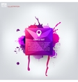 Colored abstract geometric background with splash vector image vector image
