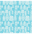 Seamless pattern with fairy tale houses lanterns t vector image vector image