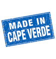 Cape Verde blue square grunge made in stamp vector image