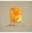 Autumn sale shopping bag vector image