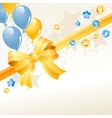 festive greeting card with balloons vector image