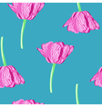 floral seamless background with tulip vector image