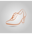 image of a graceful female boots on the vector image