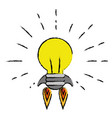 light bulb electric vector image