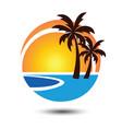 summer logo 2 vector image