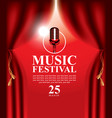 poster for music festival with microphone vector image