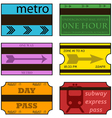 Retro subway tickets vector image vector image