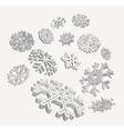 falling 3d snowflakes vector image
