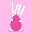 two bunny happy easter vector image vector image