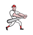 Baseball Player Batting Cartoon vector image