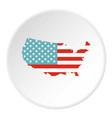 american map icon circle vector image
