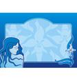 blue spa girl horizontal vector image
