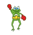 Boxing frog happy cartoon vector image