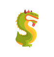cartoon character monster letter s vector image