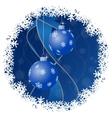 Christmas greeting card - balls with snowflakes vector image
