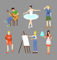 colorful hobby collection vector image