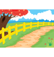 countryside path vector image