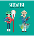 scientist character vector image