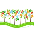 spring trees line vector image