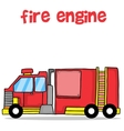 Transport of fire engine cartoon design vector image