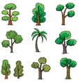 Doodle of tree different set ornament vector image