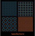 seamless pattern dark vector image