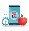 weareable technology with healthy lifestyle vector image