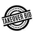 takeover bid rubber stamp vector image