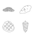 pieces of salami turkey fillet grilled steak vector image