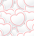 Valentine seamless background of white and red hea vector image